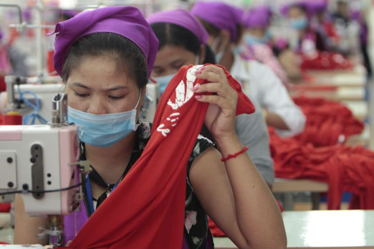 Cambodia's garment industry is worth $7bn annually and employs 740,000 people [Heng Sinith/AP]