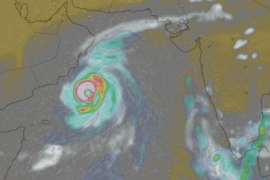 A cyclone could bring damaging winds and flooding to Oman towards the end of this week [Windy.com]