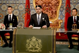 Morocco's King Mohammed VI gives a speech in the capital Rabat [File: EPA]