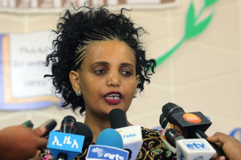 Last week, Ethiopia appointed Birtukan Mideksa as head of the board preparing for the next national elections [Minasse Wondimu Hailu/Anadolu]