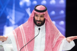 Saudi Crown Prince Mohammed bin Salman speaks during the Future Investment Initiative Forum in Riyadh, Saudi Arabia on October 24, 2018. [Reuters]