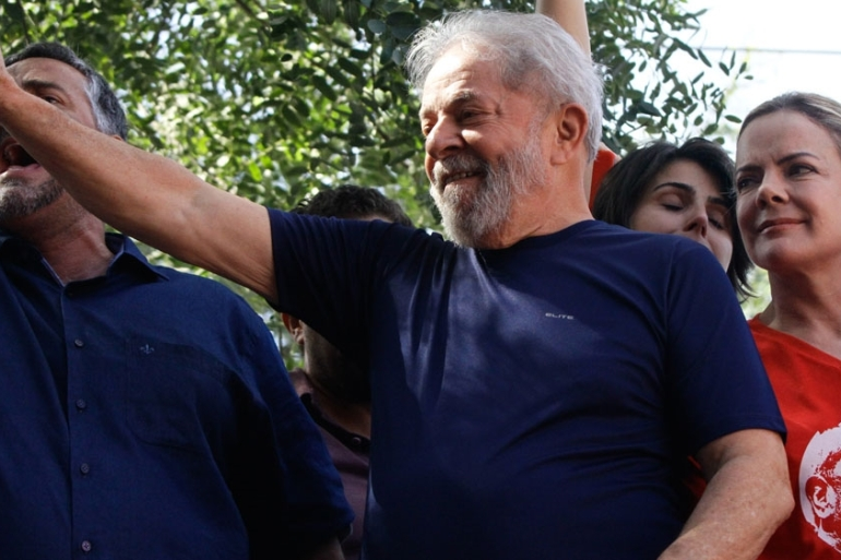 Lula began serving a 12-year sentence in a corruption case in April [Getty Images]