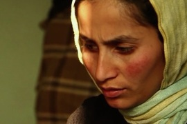 Khatera, age 23, went into hiding after speaking out against her father who abused her [Al Jazeera]
