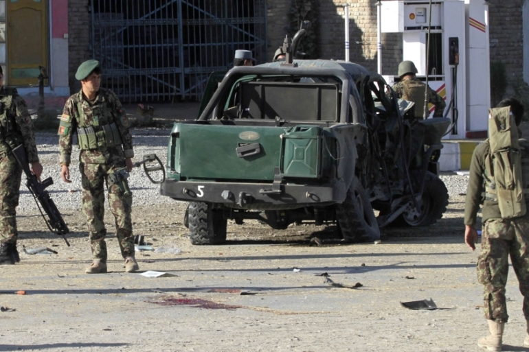 Taliban fighters have ramped up attacks on Afghan security forces and government facilities in recent months [Parwiz/Reuters]