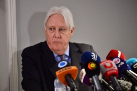 United Nations Special Envoy to Yemen Martin Griffiths reminded the Security Council that Yemen is the world's largest humanitarian crisis [File: Stina Stjernkvist/Reuters]