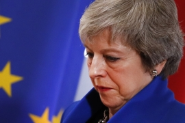 May, 62, became prime minister in 2016 after David Cameron quit following the EU membership referendum [File: Alastair Grant/AP]