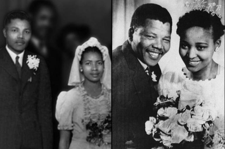 With his first wife Evelyn, in 1944, left. They had four children before divorcing in 1958. The same year, Mandela married Winnie, right, they had two daughters. He would ultimately divorce her as well and remarry again in 1998.