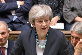 May cancelled a parliamentary vote on her preferred arrangement for leaving the EU [Reuters]