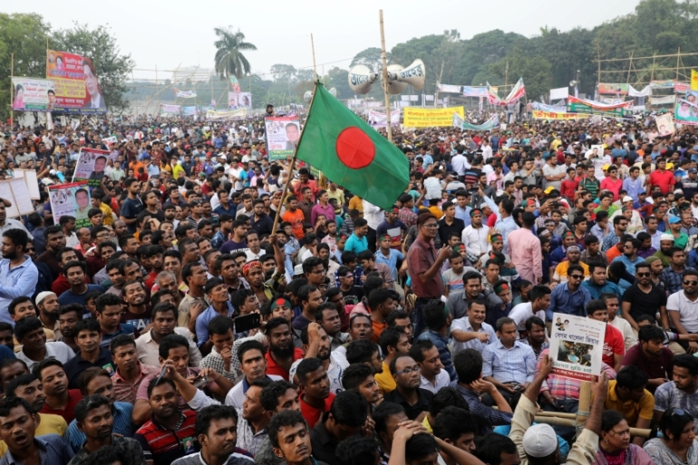 Bangladeshi opposition parties have been complaining of violent attacks against their workers by ruling party activists [Mohammad Ponir Hossain/Reuters]
