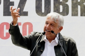 The 65-year old Obrador won the presidential race in July with over 50 percent of the vote [Henry Romero/Reuters]