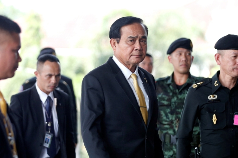 Prime Minister Prayuth Chan-o-cha met representatives of political parties on Friday [Soe Zeya Tun/Reuters]