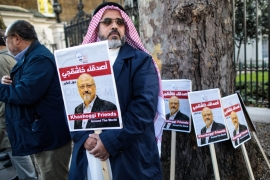 Khashoggi was killed and dismembered inside the Saudi consulate in Istanbul last October [Jack Taylor/Getty Images]