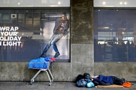 Homelessness charities in the UK say rough sleepers have increased by 169 percent since 2010 [Reuters]