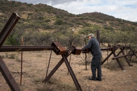 Rich Glinski, a resident of Arivaca, says the wall is 'totally nonsensical' [Patrick Strickland/Al Jazeera]