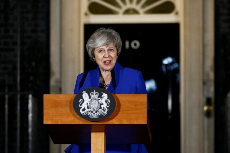 With her leadership secure for the time being, May has to decide the next step as Brexit deadline looms [Henry Nicholls/Reuters]