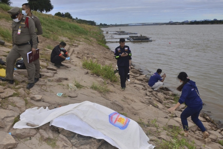 Bodies of two Thai anti-government activists, who disappeared in Laos in early December, were found in the Mekong River on December 27 [AP Photo]
