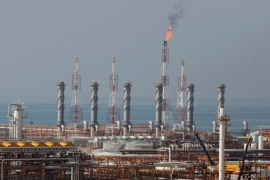 A partially constructed gas refinery on the northern coast of the Gulf in Asalouyeh, Iran [Vahid Salemi/AP]