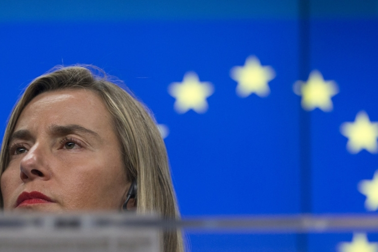 EU foreign policy chief Mogherini is not expected to attend a summit co-hosted by the US and Poland  [File: Virginia Mayo/AP]