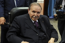 Bouteflika has been confined to a wheelchair since suffering a stroke in 2013 [Sidali Djarboub/AP]