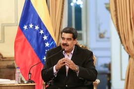 Maduro accused US President Donald Trump of ordering 'a hit' on him [Miraflores Palace via Reuters]