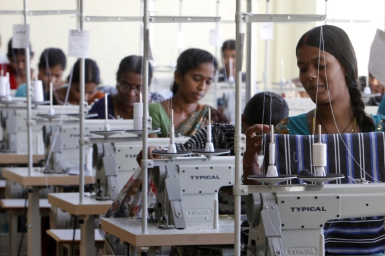 An estimated 45 million workers, mostly women, are employed in India's thriving garment industry [File: Mahesh Kumar A./AP]