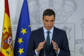 Spain's PM Pedro Sanchez called for fair, free and transparent elections in Venezuela [Andrea Comas/AP]