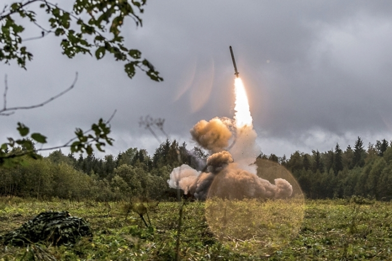 The US and its NATO allies want Russia to destroy its 9M729 nuclear-capable cruise missile system [Russian Defense Ministry via AP]