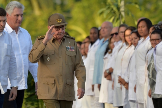 Castro said that Cuba had proven it could not be intimidated by threats [Yamil Lage/Pool via Reuters]