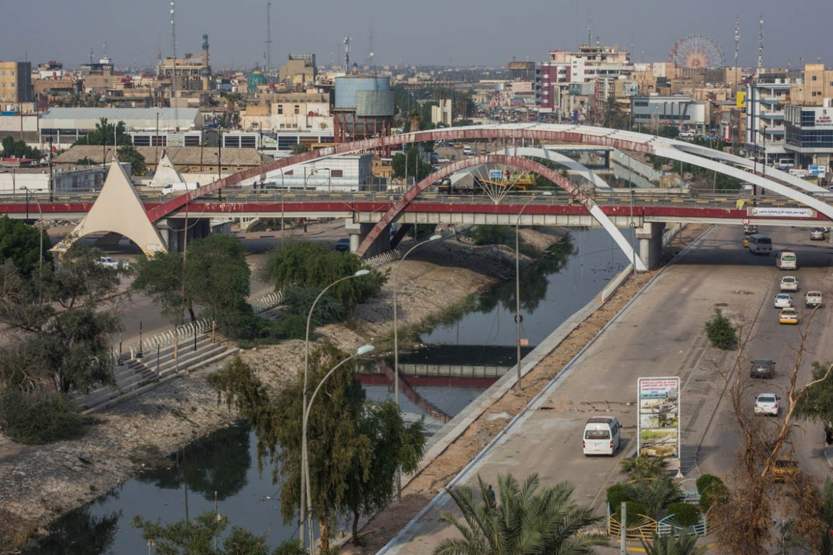 One of the canals of the Shatt al-Arab River in the city of Basra. [Alessio Mamo/Al Jazeera]