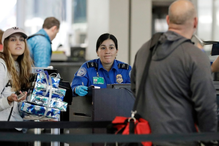 Transport Security Administration officers have increasingly been calling in sick since the shutdown began [Nam Y Huh/AP]