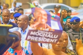 Opposition presidential candidate Kingsley Moghalu says his campaign focuses on political education [Fidelis Mbah/Al Jazeera]