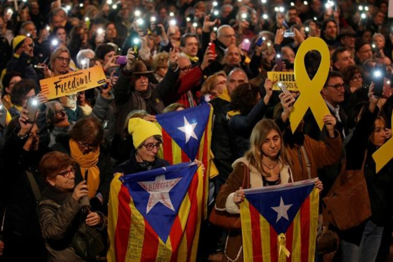 Separatist groups have called for supporters to rally in the Catalan capital, Barcelona, on October 26, the original date of the match [File: Al Jazeera]