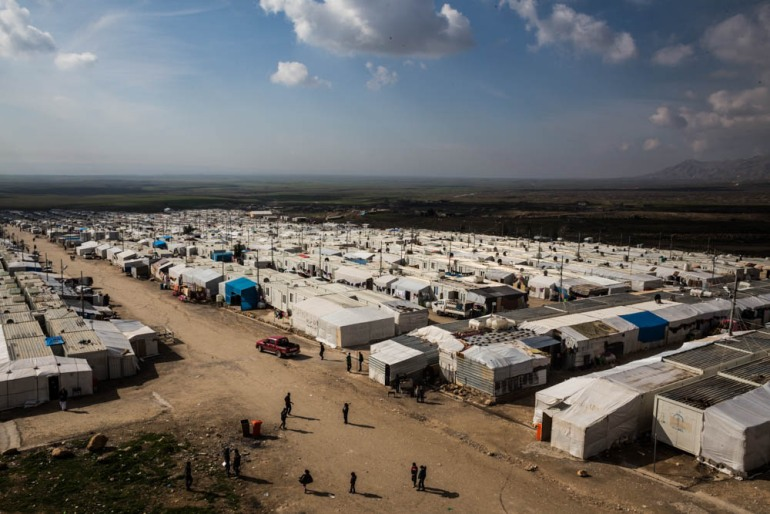 Rwanga refugee camp is home to more than 15,000 internally displaced people, mostly Yazidis. It is one of the 25 camps around Dohuk, in the northern Kurdish-controlled region of Iraq. These camps have been hosting refugees that fled from ISIL since 2014. [Giacomo Sini/Al Jazeera]