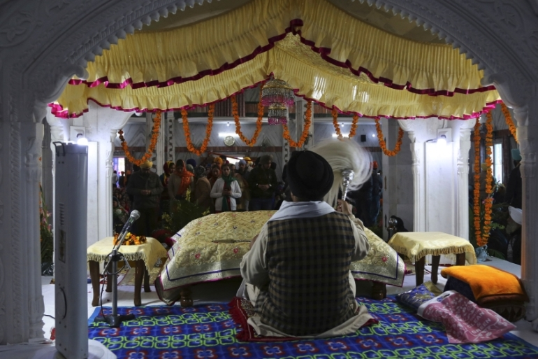 Sikhs make up under two percent of India's population of 1.3 billion people [File: Channi Anand/AP]