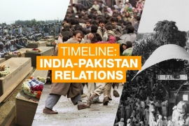 Timeline: India Pakistan relations OUTSIDE IMAGE WITH TEXT [Al Jazeera]