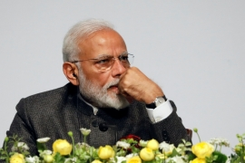 Modi and his senior cabinet colleagues have kept their distance from the media, while Pakistan Prime Minister Imran Khan held multiple press conferences since the border incident on Wednesday [Kim Hong-Ji/Reuters]