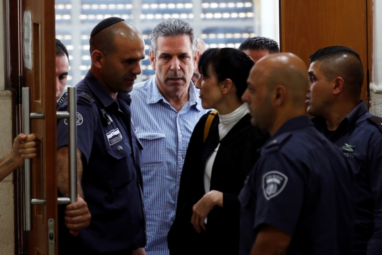 Gonen Segev, energy minister from 1995 to 1996, admitted to the charges last month [File: Ronen Zvulun/Reuters]