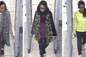 In this three image combo of stills taken from CCTV, Kadiza Sultana, Shamima Begum and Amira Abase are seen at Gatwick airport on Feb. 23, 2015 [File: AP Photo/Metropolitan Police]