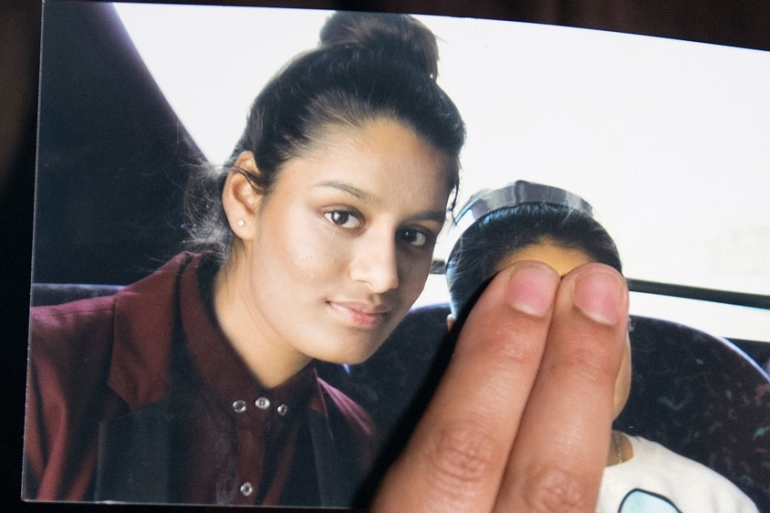 Begum ran way from the UK four years ago, aged 15, to live under the ISIL in Syria [Laura Lean/Reuters]