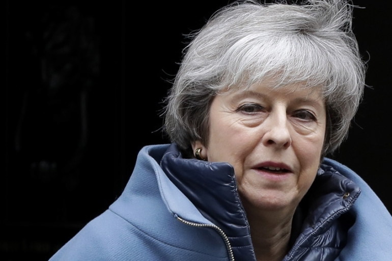Britain's Prime Minister Theresa May says she is 'saddened' by the MPs' decision to leave the party [File: Kirsty Wigglesworth/ AP Photo]