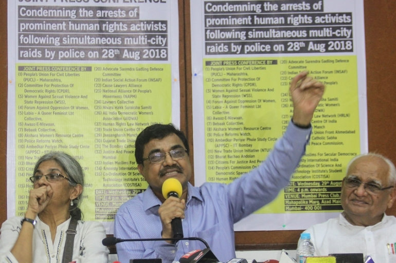 Leading scholar and author Anand Teltumbde was arrested in April 2020 after being accused of having links with Maoist rebels and conspiring against the government [Photo by Bhushan Koyande/Hindustan Times via Getty Images]