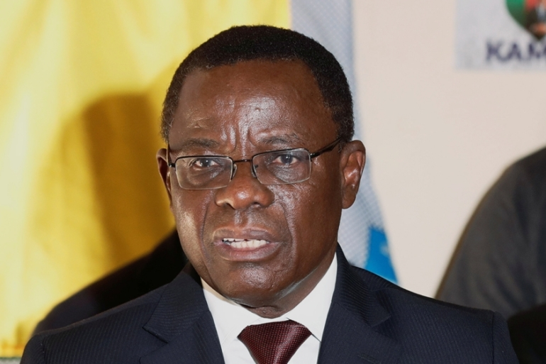 Maurice Kamto was said to be in good health after being interrogated on Wednesday, his lawyer said [File: Zohra Bensemra/Reuters]