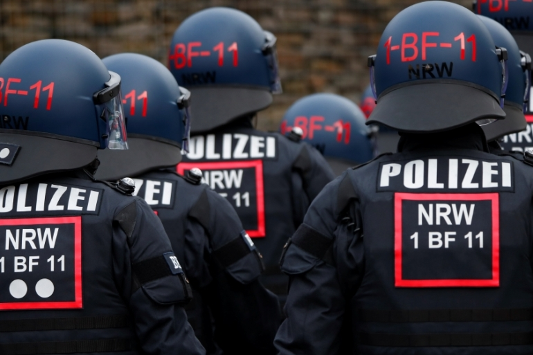 German police conducted raids on the companies' premises in the states of North Rhine-Westphalia and Lower Saxony [File: Wolfgang Rattay/Reuters]