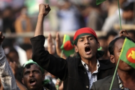 File: Bangladesh Nationalist Party (BNP) activists shout slogans during a rally in Dhaka January 20, 2014 [File:Andrew Biraj/Reuters]