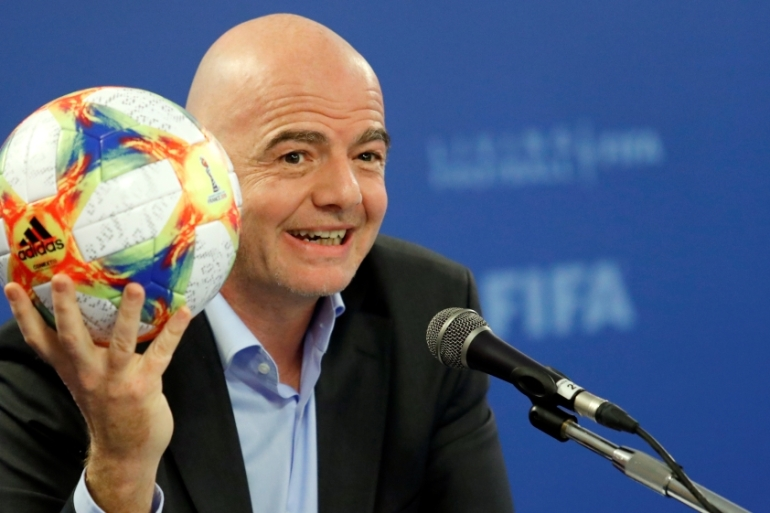 FIFA President Gianni Infantino wants to enlarge the tournament from 32 to 48 teams [Remo Casilli/Reuters]