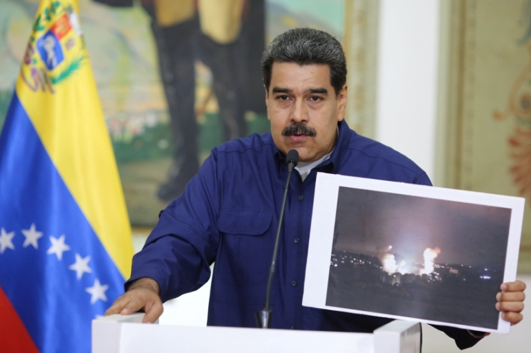 The government ordered American diplomats to leave the country within 72 hours after President Maduro accused US of cyber 'sabotage' [Reuters]