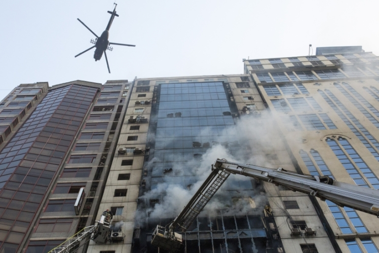 Authorities have launched an investigation into the cause of Thursday's fire [Zakir Hossain Chowdhury/Anadolu]