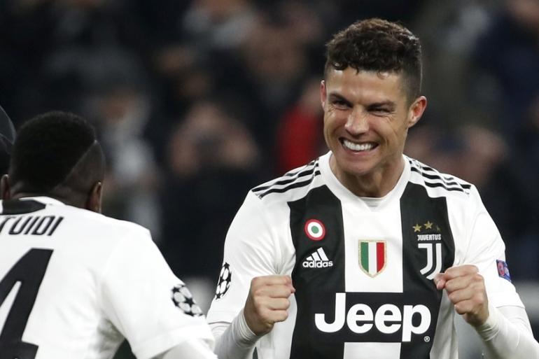 Ronaldo Hat Trick Lifts Juventus To Champions League Quarters Sports News Al Jazeera