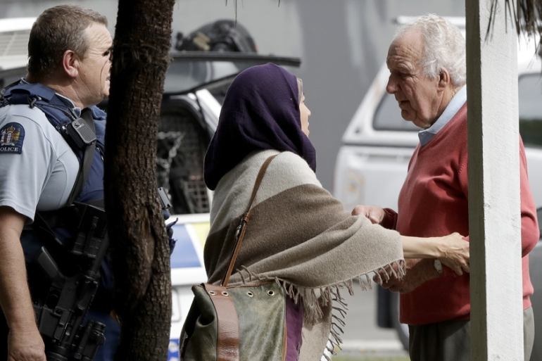 The gunman fired indiscriminately at Muslims inside the mosque [Mark Baker/AP]