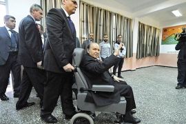 Bouteflika has ruled for 20 years and, despite suffering from a stroke, is running for a fifth term [File: Sidali Djarboub/AP]
